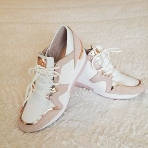Michael Kors Liv Trainer Sneaker Pink and White